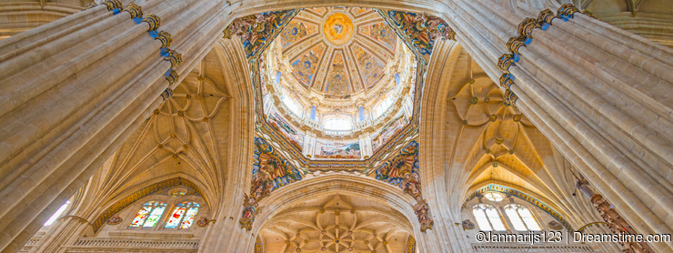 Detail of the medieval cathedral of Salamanca