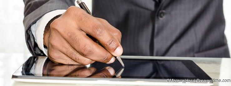 Man signing