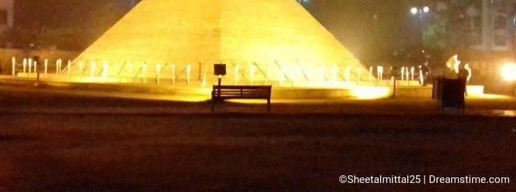 Pyramids of Giza egypt model in park