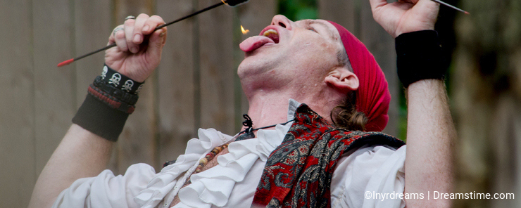 Fire eating pirate