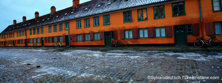 Marin's Houses in Copenhagen in Winter