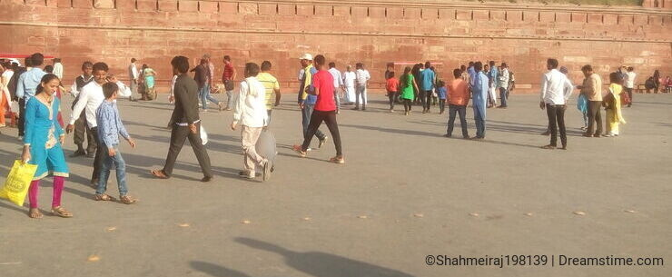 Visitors at Red Fort