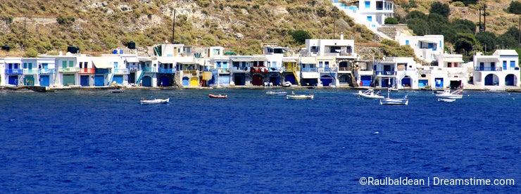 Milos fishermen village