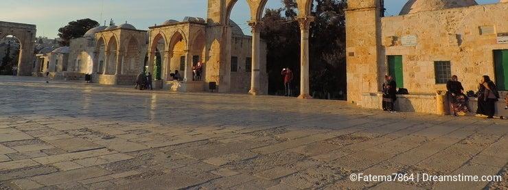 Stone entrance of the Al-Aqsa mosque, Jerusalem