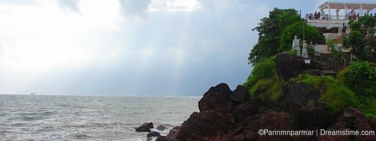 Cloudy Storm over an Ocean at Dona Paula, Panaji, Goa, India