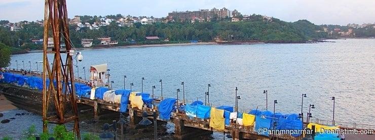 Raw of Stalls at Dona Paula, Panaji, Goa