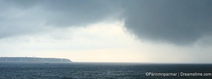 Cloudy Storm over an Ocean