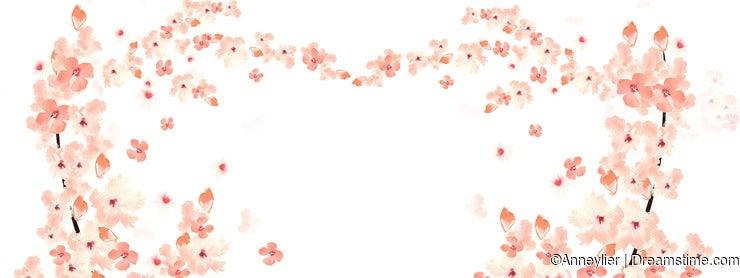 Heart-shaped sakura
