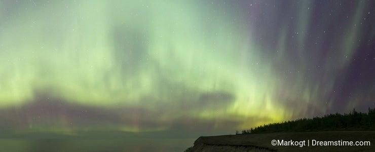 Spectacular Northern Lights Panorama