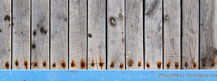 Detailed old wood planks with rusted screws texture