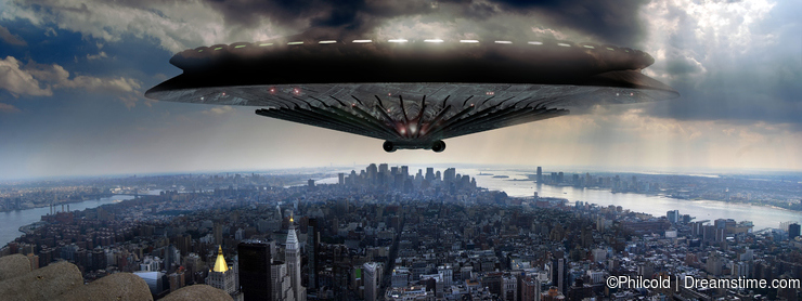Ufo over Manhattan