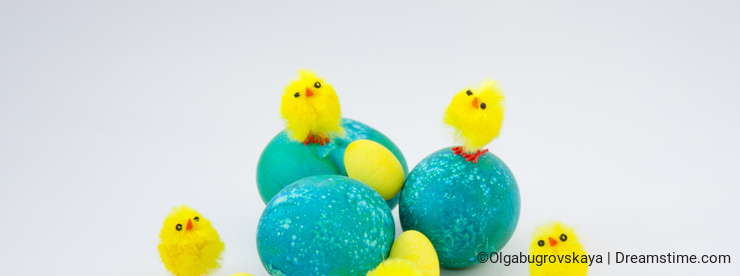 Easter eggs decorated
