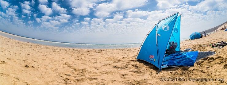 Sun dome on a beach