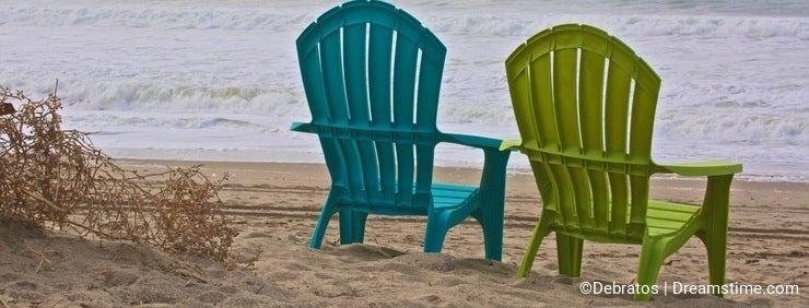 Adirondack chairs ocean
