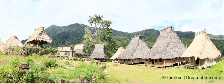 Traditional village in open-air museum in Wologai