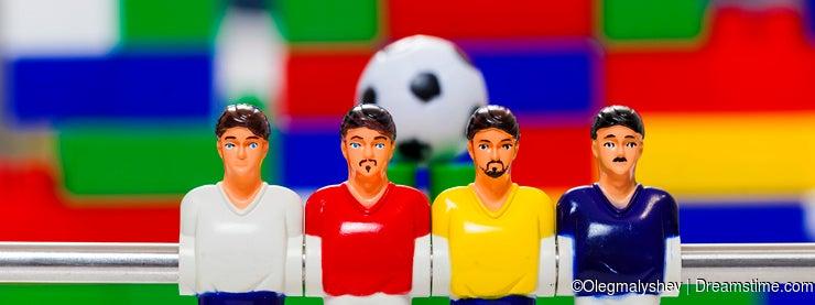 Foosball table players