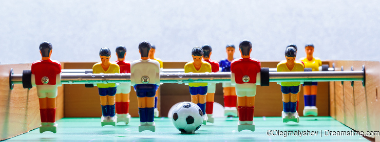 Foosball table soccer football players sport teame