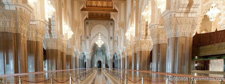 Inside King Hassan II Mosque, Casablanca