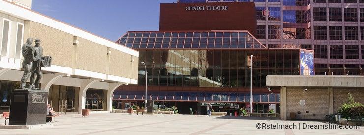 EDMONTON, CANADA - SEPTEMBER 13, 2016: Citadel Theatre on 13 Sep