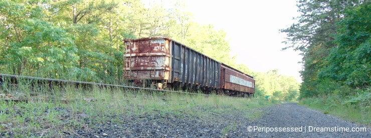 Abandoned Train On Abandoned Track