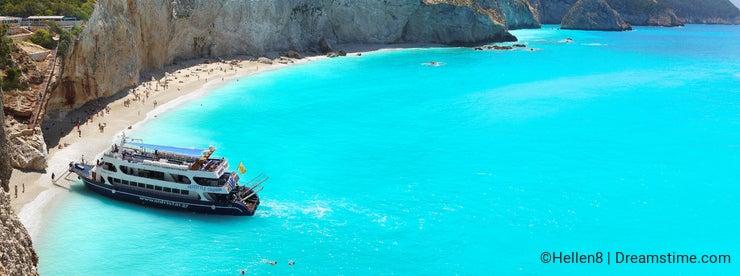 Beach, Blue Sea Boat Trip, Panorama