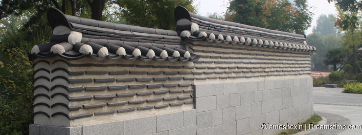 building , Oriental architecture , South Korea, constuction details , Korean style Low wall