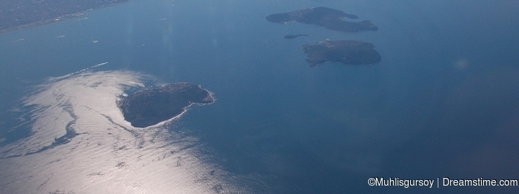 Bosphorus from Aircraft View