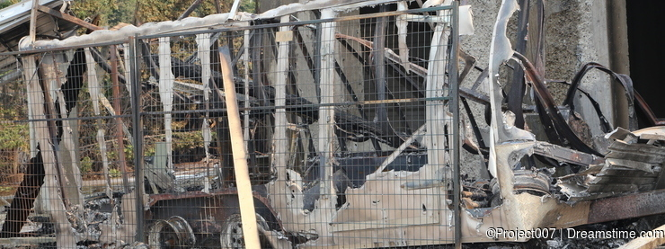 Construction site trailer burned down- fire insurance