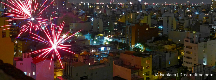 New year's eve in Buenos Aires.