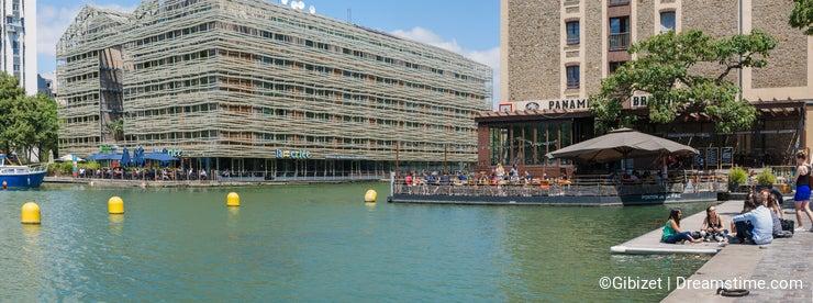 Paris - Parisians lunch on the canal