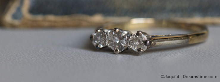 An old diamond ring