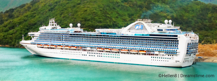 Emerald Princess Cruise Ship, New Zealand
