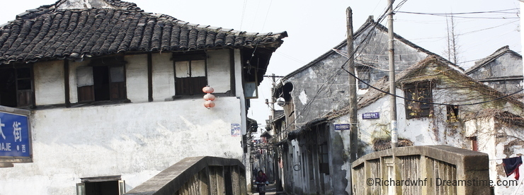 Xincheng Old Town in winter sunny day