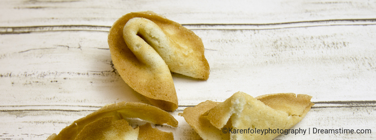 Motivational fortune cookie on curiosity