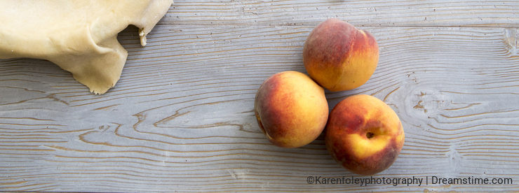 Peach with pie crust and spices