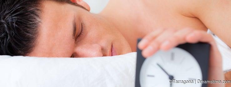 Man bed clock alarm