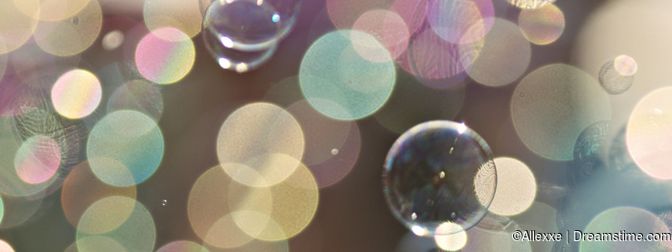 Light colored soap bubbles Bokeh Background