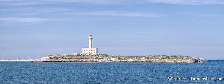 Vieste lighthouse island gargano puglia eufemia