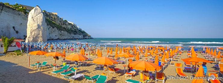 Beach of vieste - gargano area - apulia region - italy