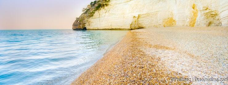 Spiaggia di Vignanotica Vignanotica beach in Gargano - Apuli