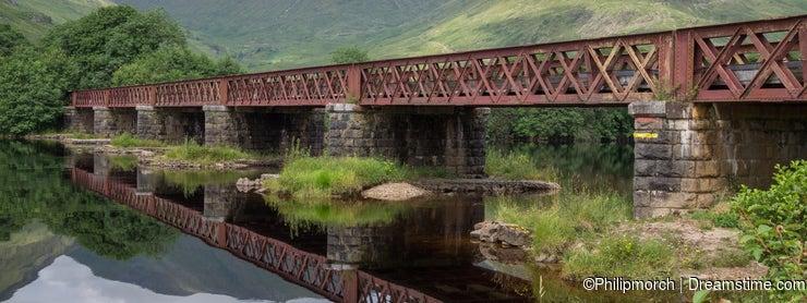 Railway Bridge crossing Loch Awe, Argyll and Bute, Scotland