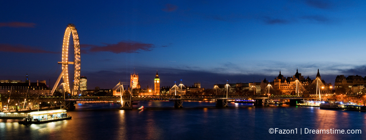 HUGE-City of Westminster at Twilight.