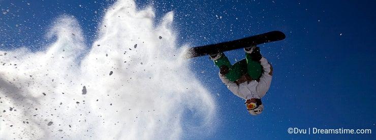 Big snowboard jump