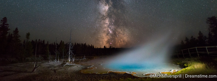 Milky Way Galaxy over Silex Spring