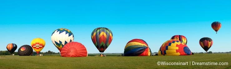Hot Air Balloon Panoama Panoramic Banner