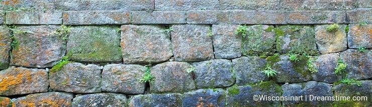Stone Brick Wall Banner, Panorama