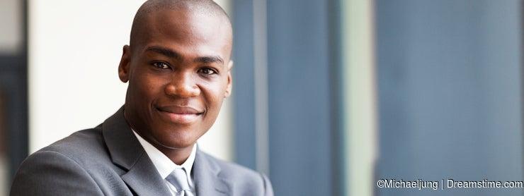 Peaceful black businessman