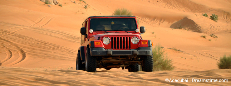 Desert safari in a jeep