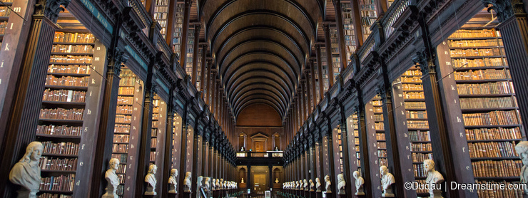 The Long Room in Trinity College Library, Dublin