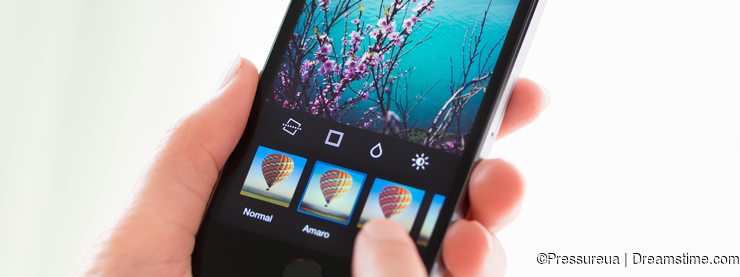 Apply filters in Instagram application on Apple iPhone 5S